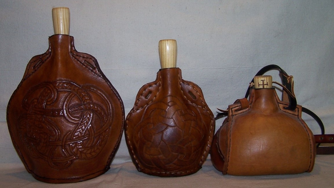 Large, Small, and Barrel flasks