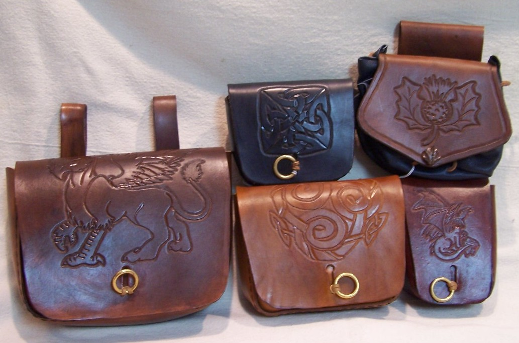 Sporran, Small Wide, Small Tall, Medium, and Large Formed Pouches
